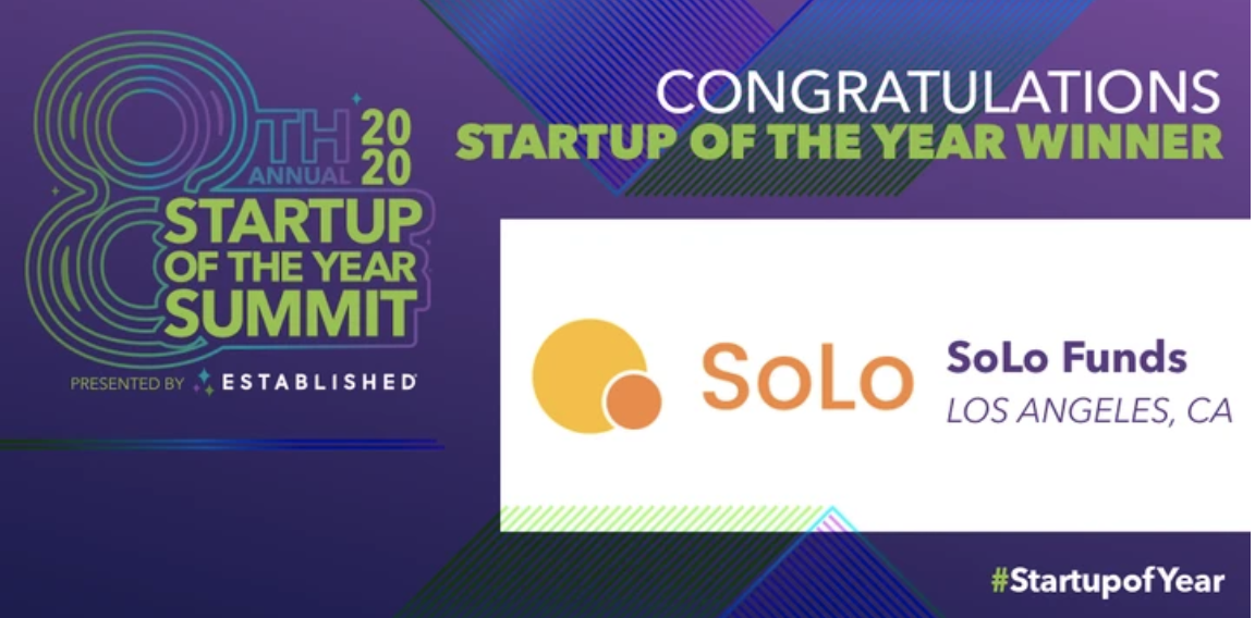 Established® Announces SoLo Funds Wins Startup of the Year at the 8th Annual Startup of the Year Summit